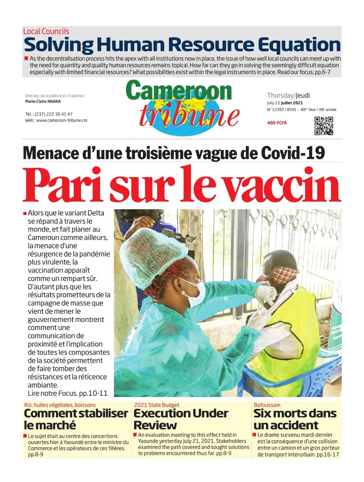 Cameroon Tribune - 22/07/2021