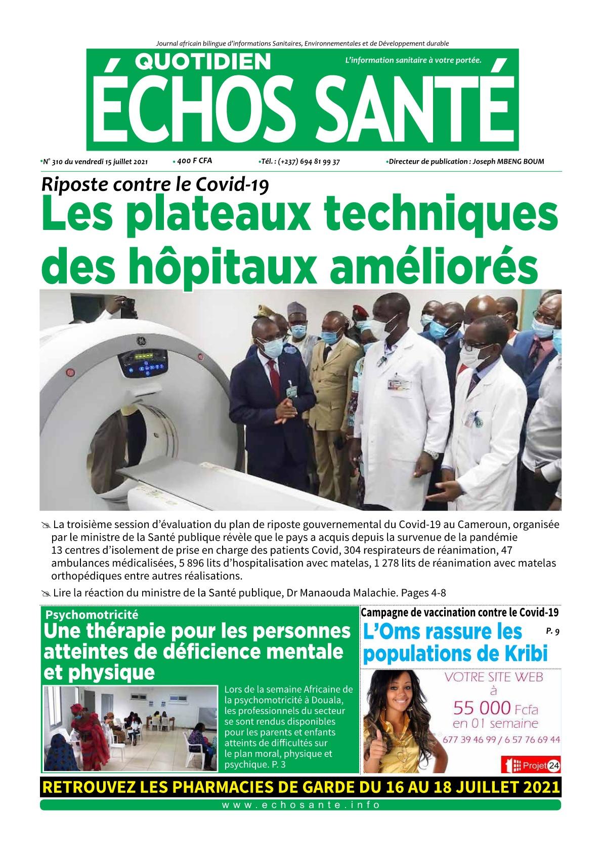 Echos Santé - 16/07/2021