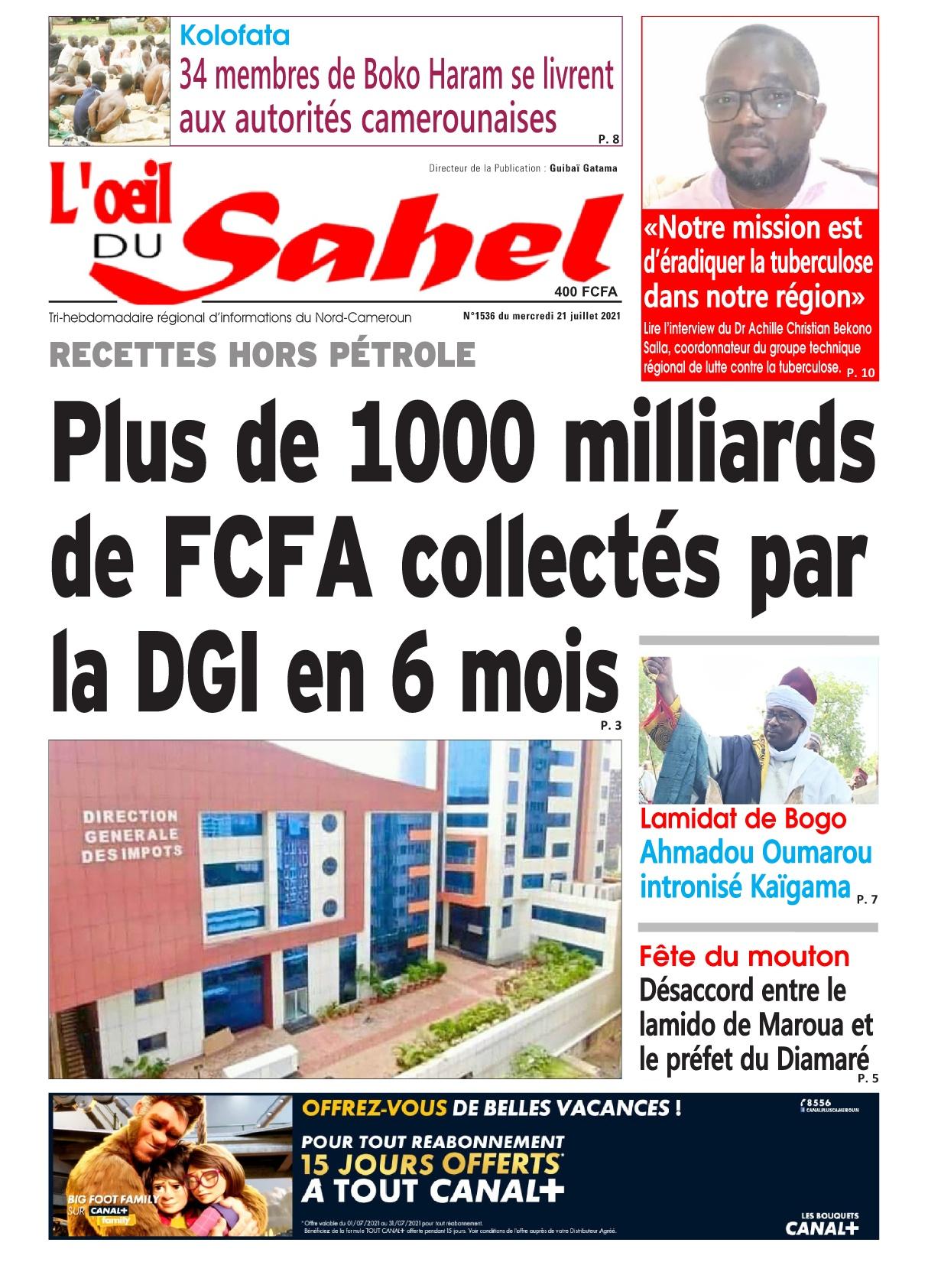 L'oeil du Sahel - 21/07/2021