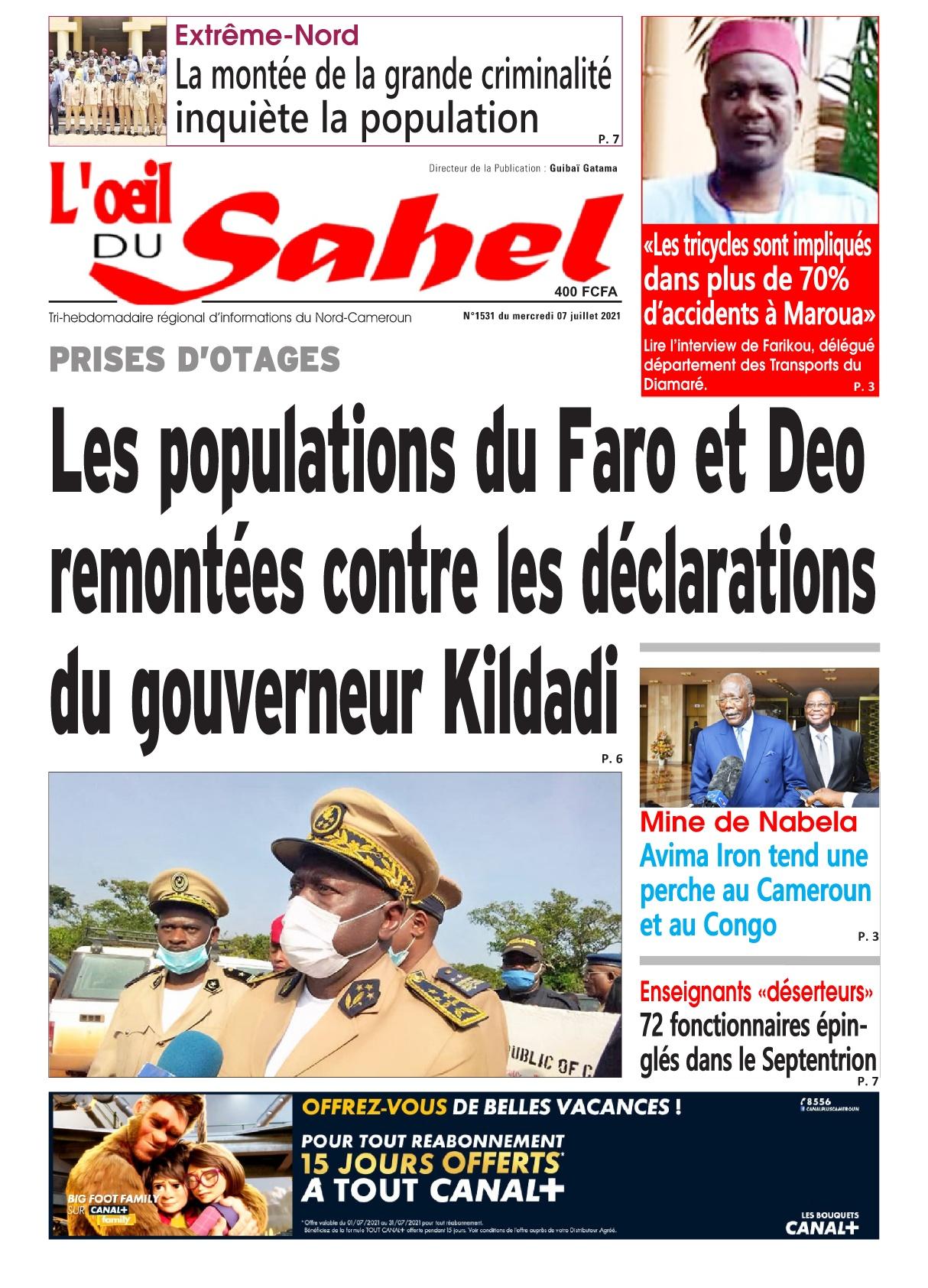 L'oeil du Sahel - 07/07/2021
