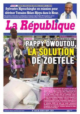 LA REPUBLIQUE PRESSE - 09/09/2021