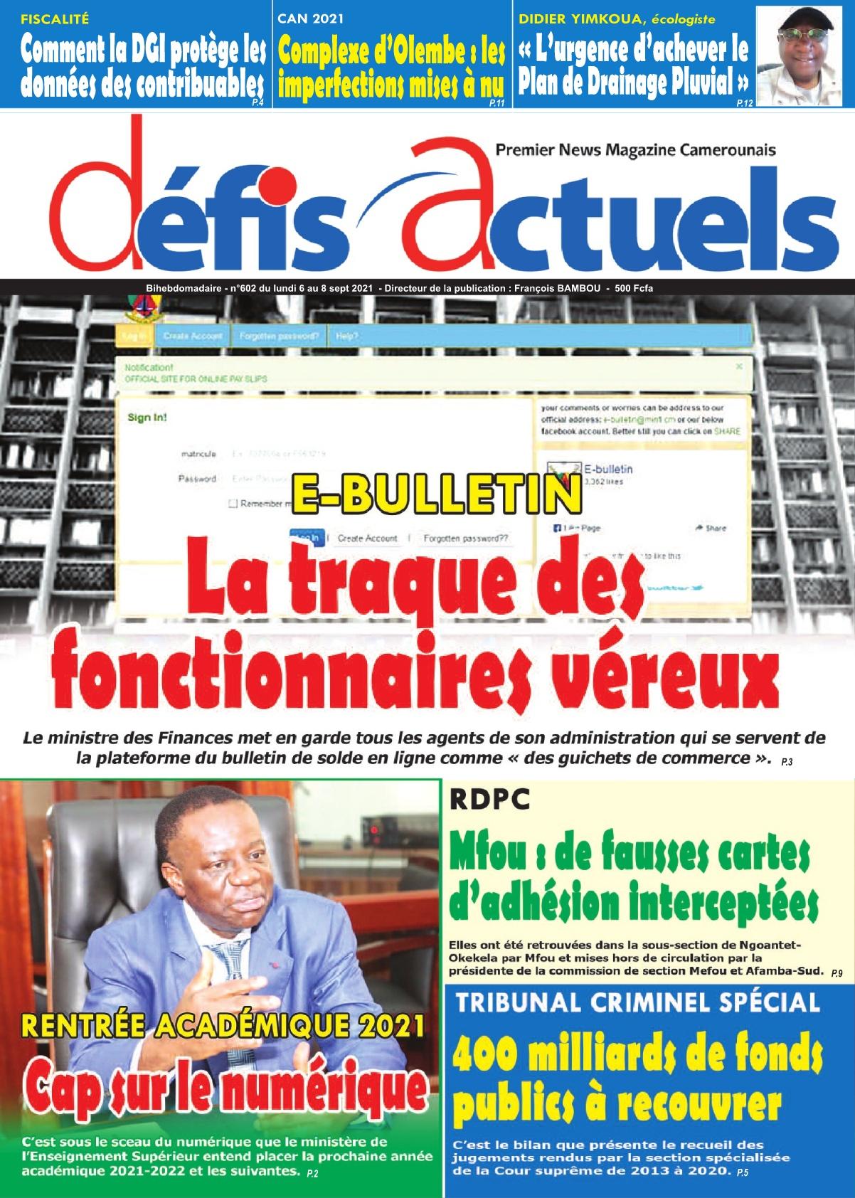 Défis Actuels - 06/09/2021