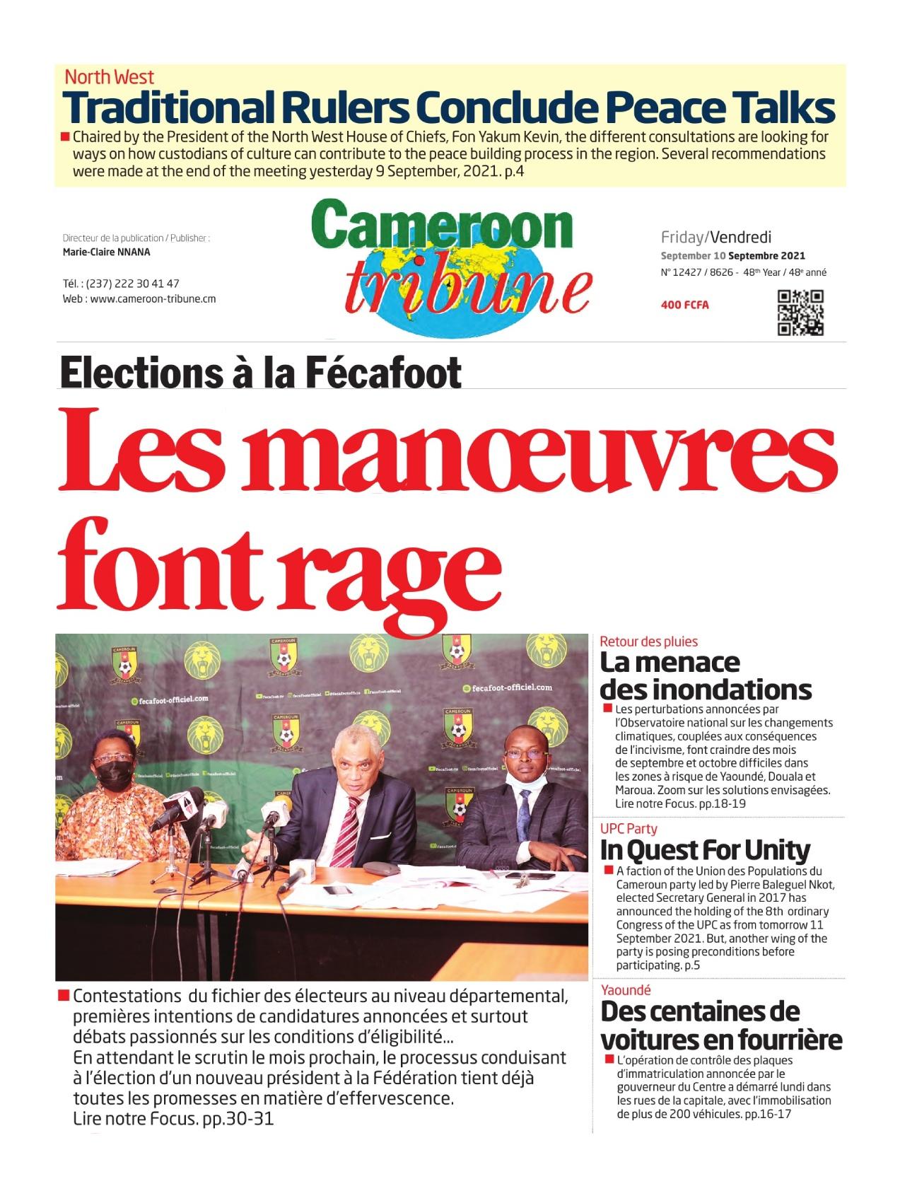 Cameroon Tribune - 10/09/2021