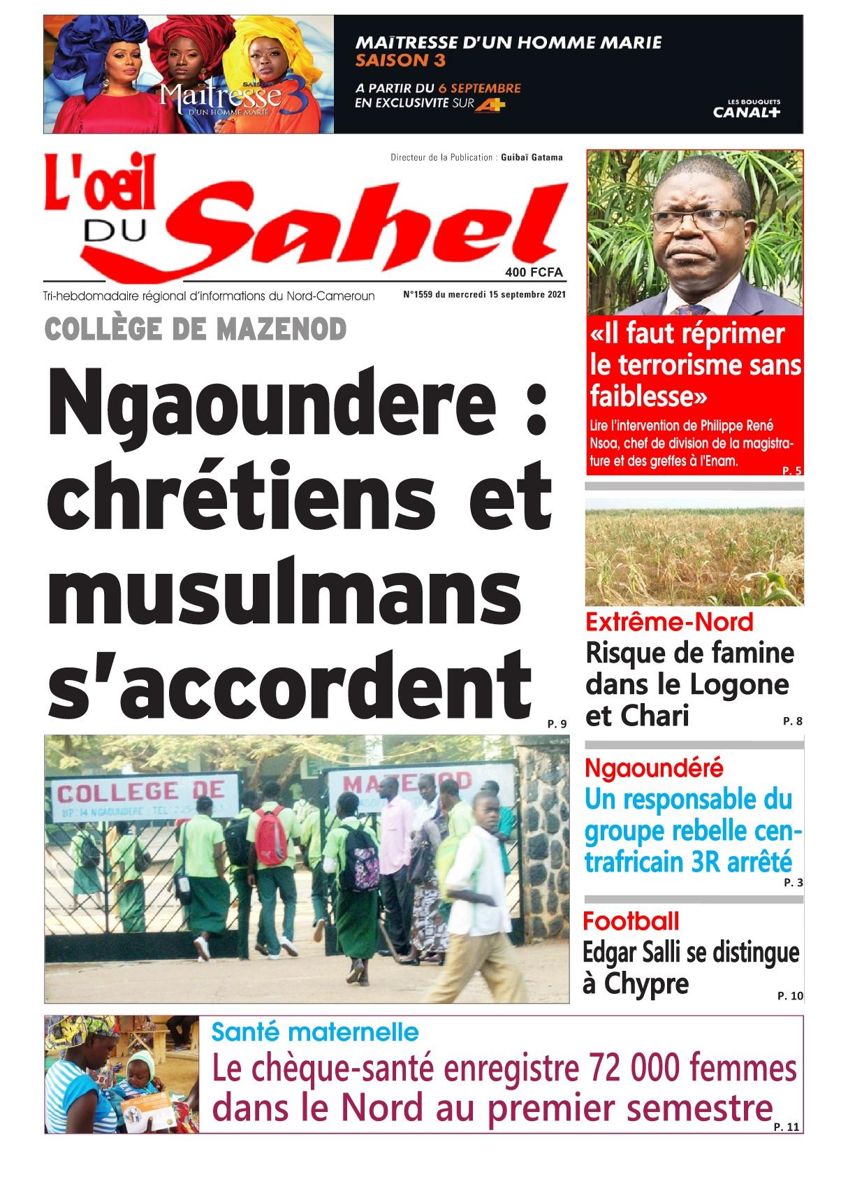 L'oeil du Sahel - 15/09/2021