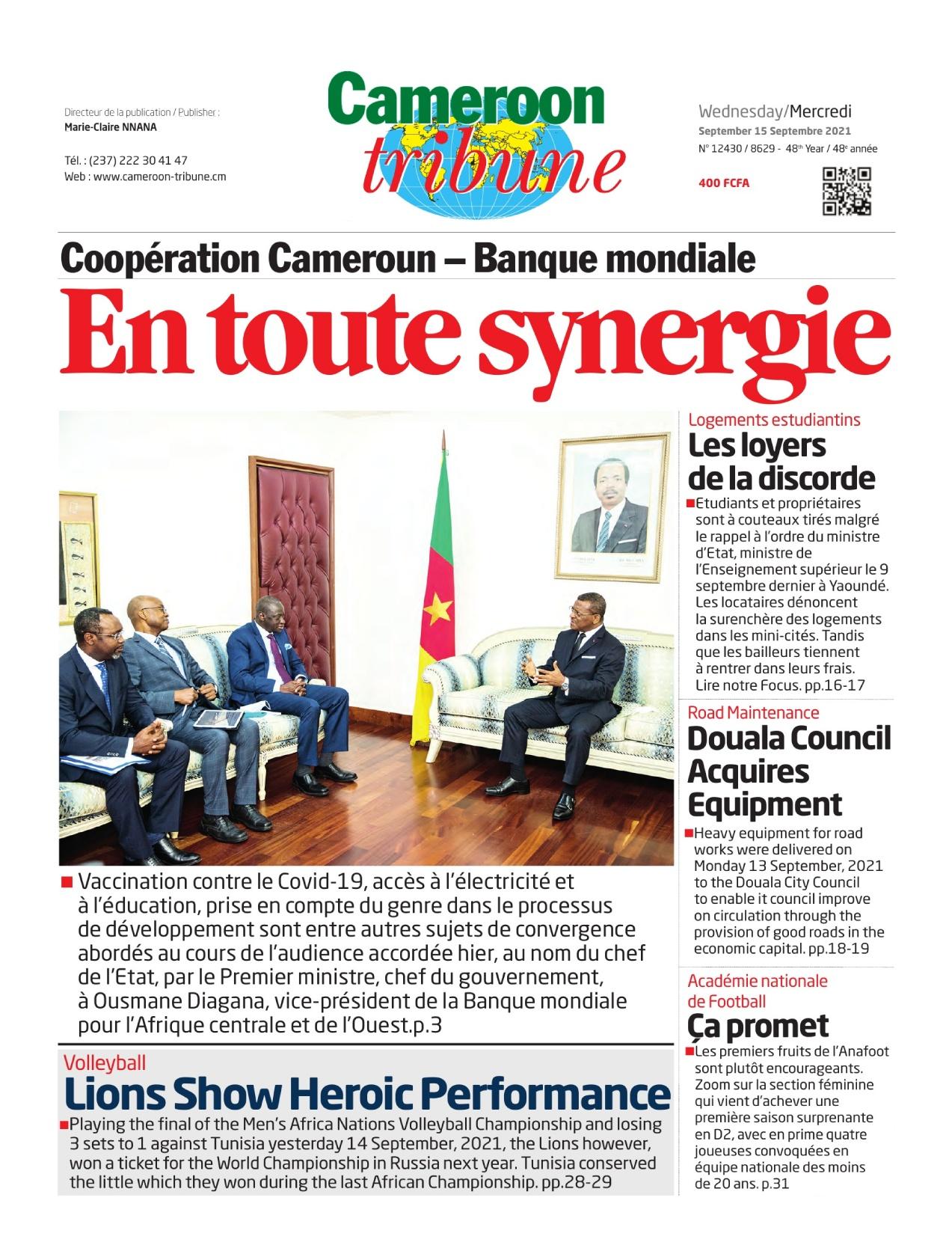 Cameroon Tribune - 15/09/2021
