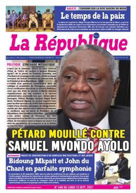 LA REPUBLIQUE PRESSE - 14/09/2021