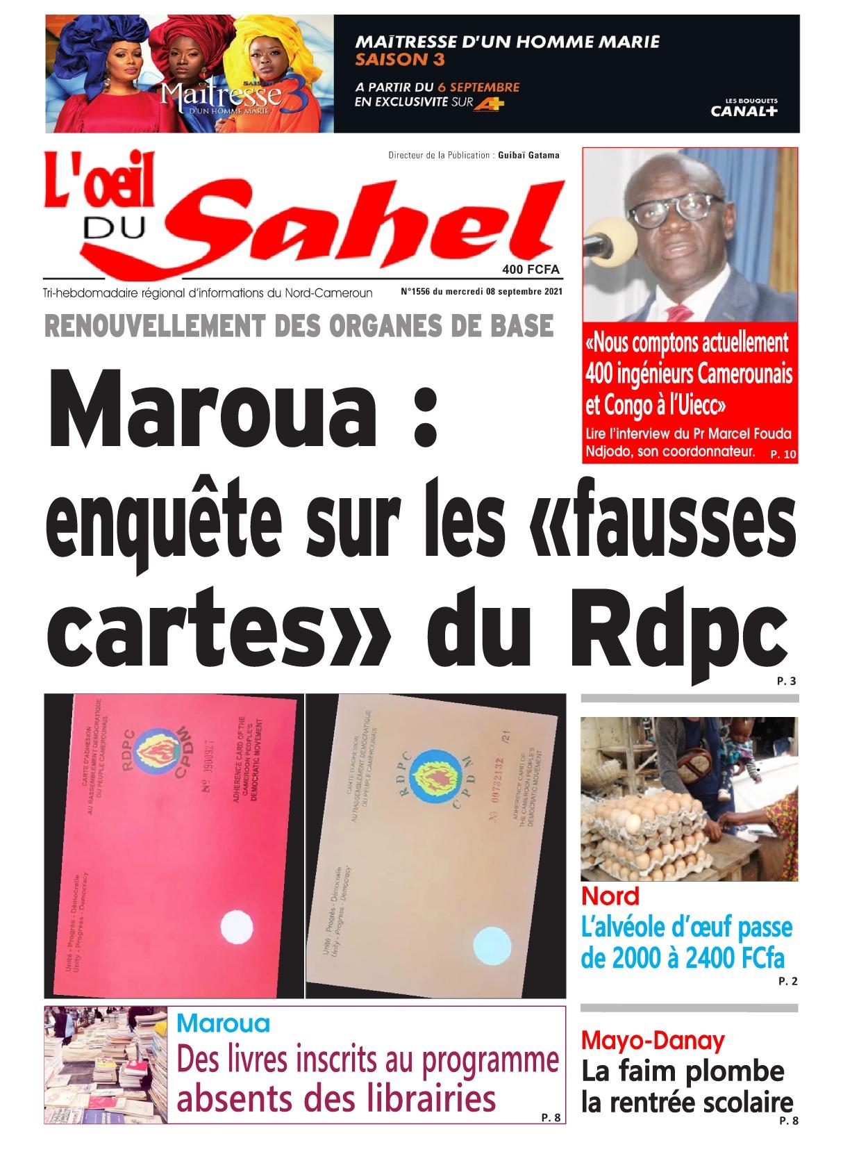 L'oeil du Sahel - 08/09/2021