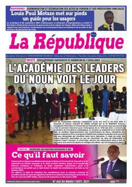 LA REPUBLIQUE PRESSE - 07/09/2021