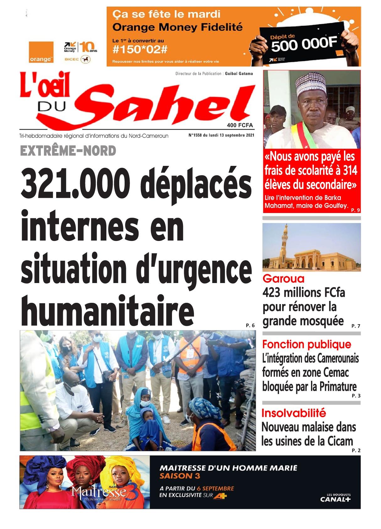 L'oeil du Sahel - 13/09/2021