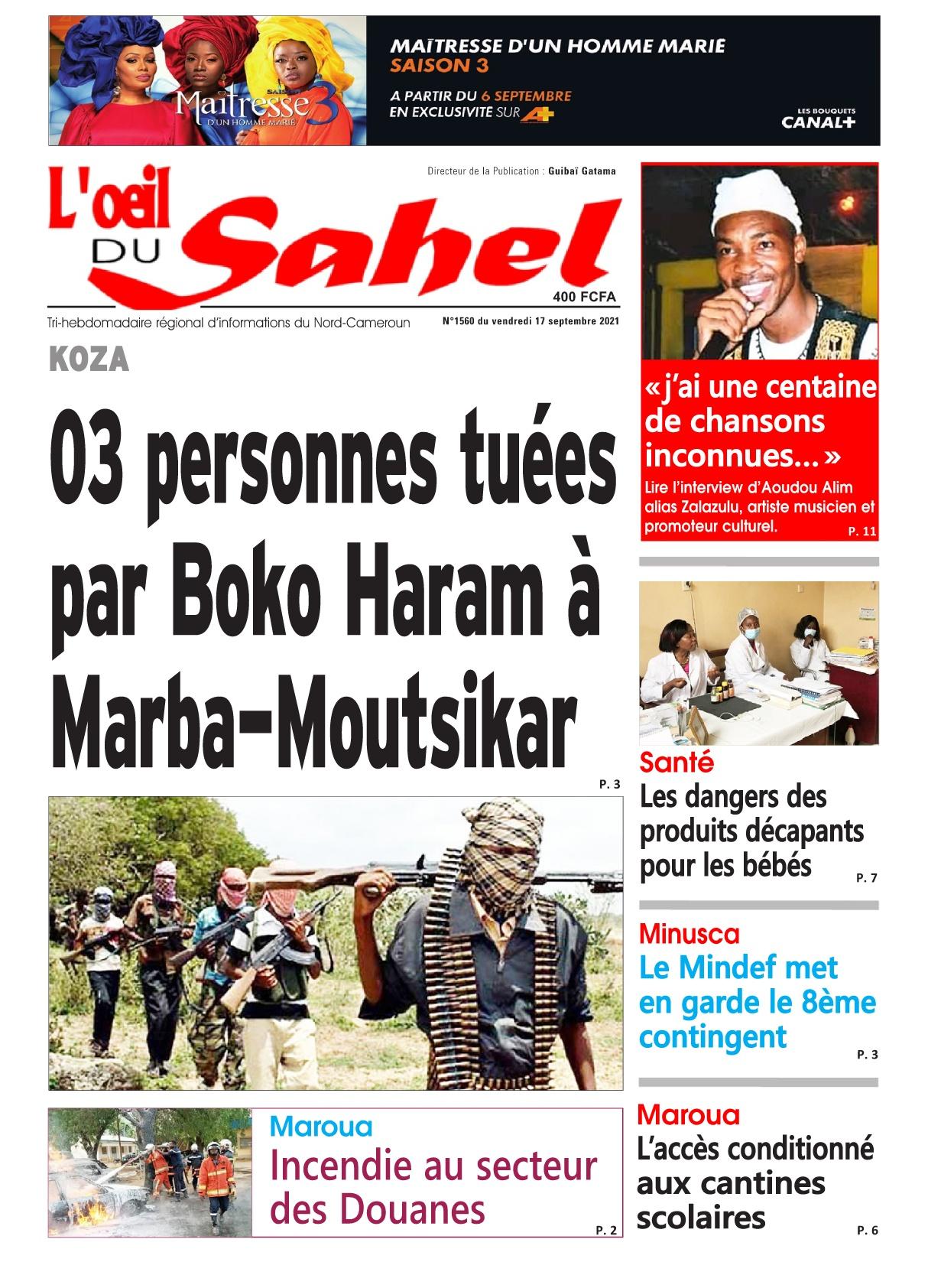 L'oeil du Sahel - 17/09/2021