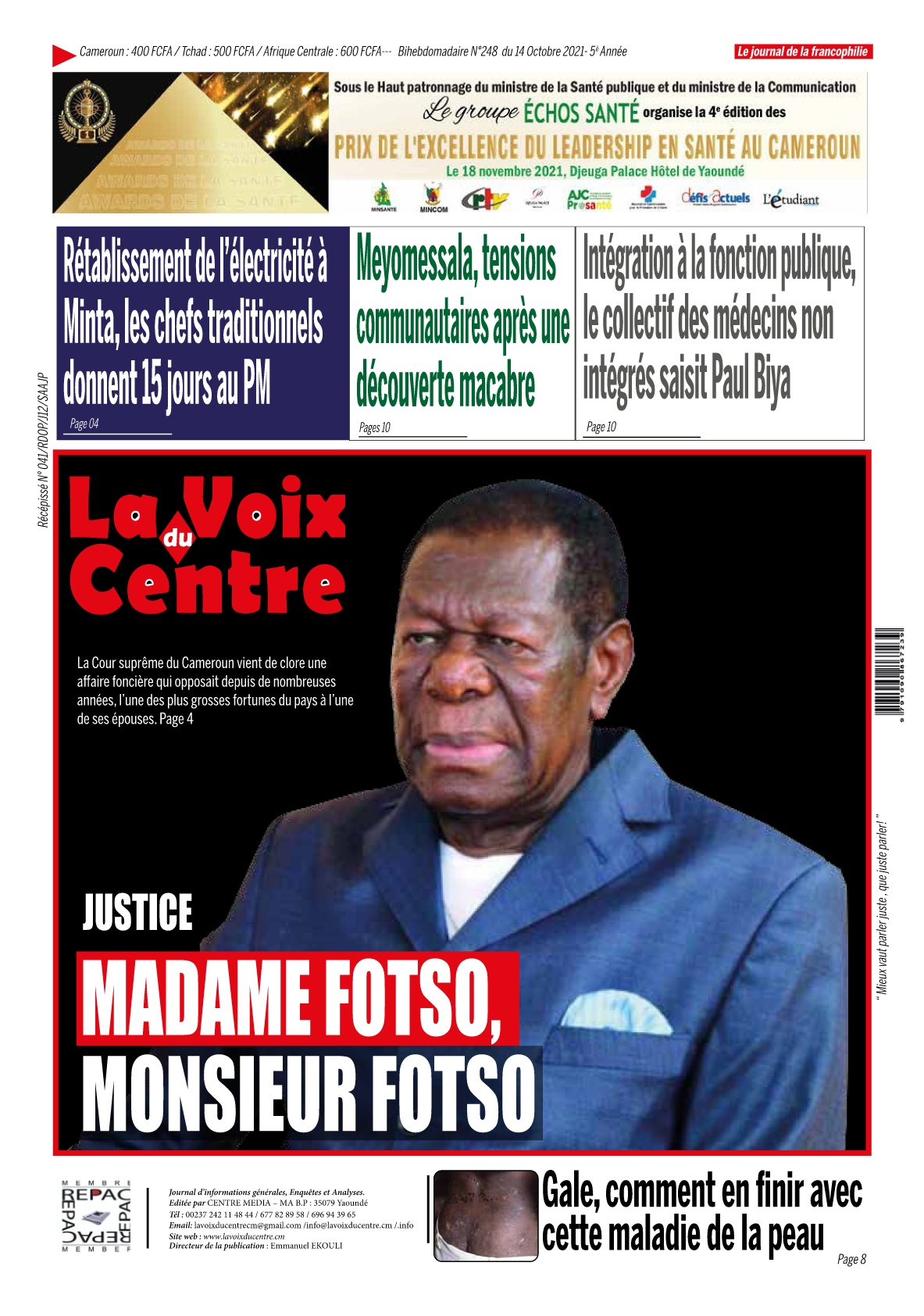 LA VOIX DU CENTRE - 14/10/2021