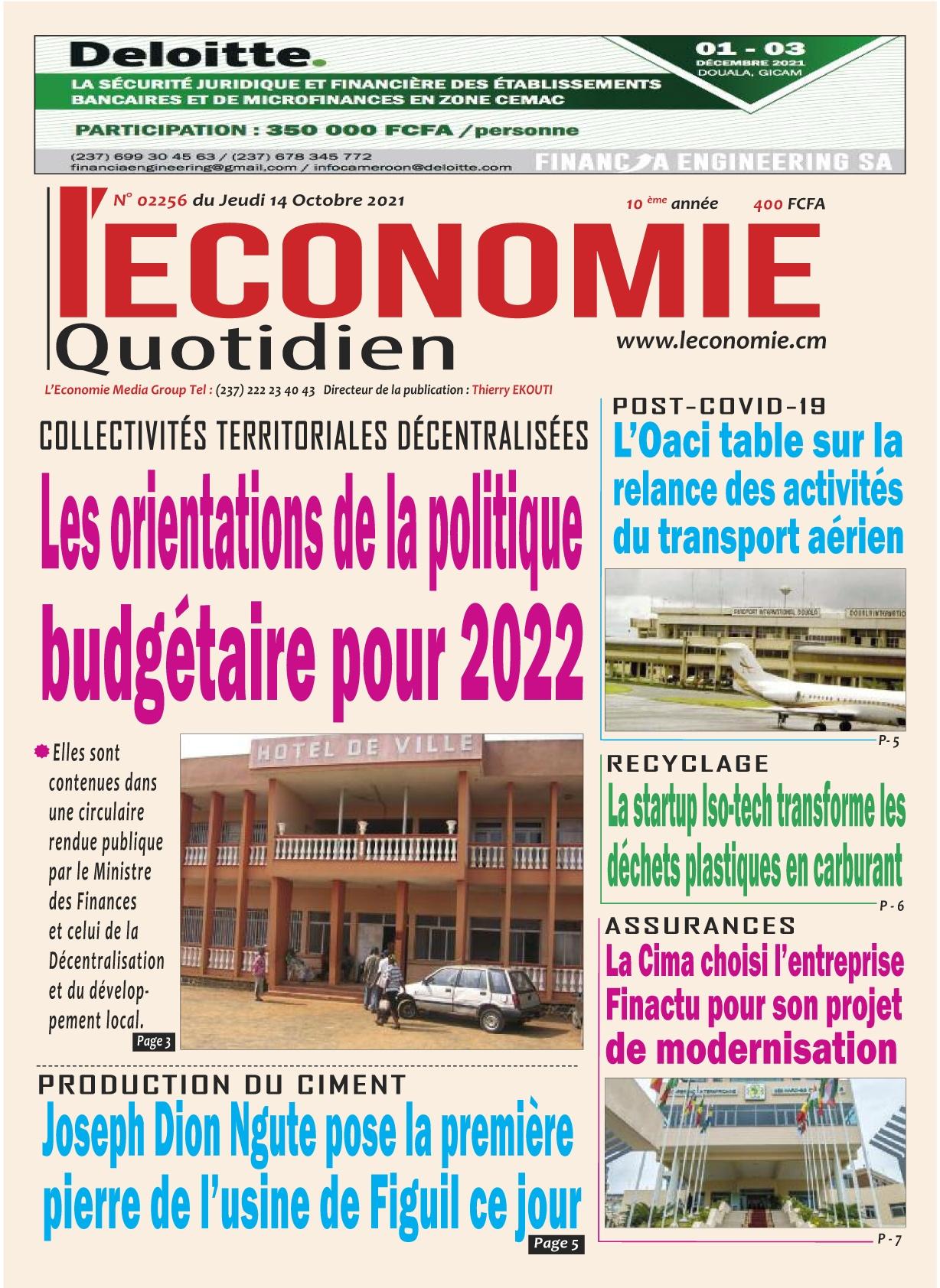 Le Quotidien de l'Economie - 14/10/2021