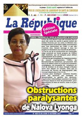 LA REPUBLIQUE PRESSE - 21/10/2021